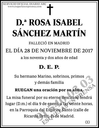 Rosa Isabel Sánchez Martín